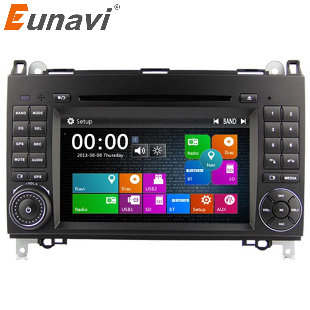 Eunavi 2 Din 7 Inch Car DVD Player For Mercedes Benz Sprinter W209 W169 B200 A