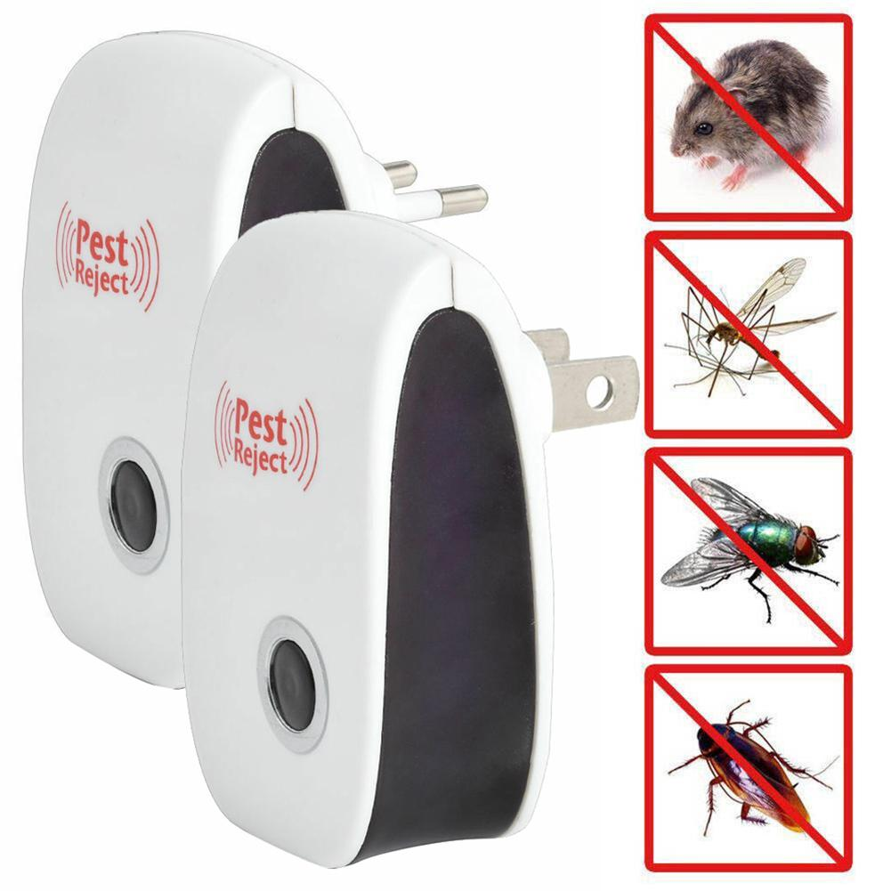 1pc New Electronic Cat Ultrasonic Anti Mosquito Insect Repeller Rat Mouse Cockroach Pest Reject Repellent EU/US Plug Dropshiping