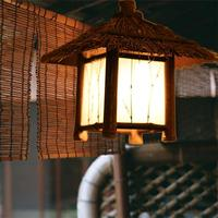Handmade Pastoral style Bamboo House Pendant Lights Dining Room Corridor Hallway Ceiling LED Pendant Lamps