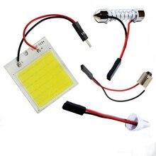 T10 W5W C5W Festoon BA9S 3 адаптера 18 24 48 чипов COB светодиодный светильник для чтения Авто панель лампа для салона автомобиля карта купольная лампа супер белый