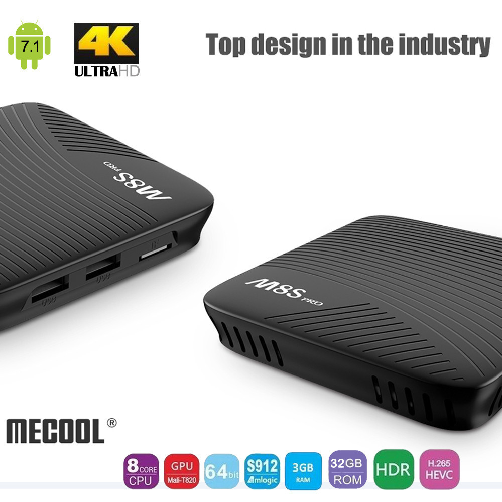 M8S PRO  2G / 3GB RAM + 16GB Storage Bluetooth 4.1 HS 5G 11ac Wifi LAN UHD 4K H.265 DDR4 Android 7.1 Octa Core S912 Smart TV BOX comfast full gigabit core gateway ac gateway controller mt7621 wifi project manager with 4 1000mbps wan lan port 880mhz cf ac200