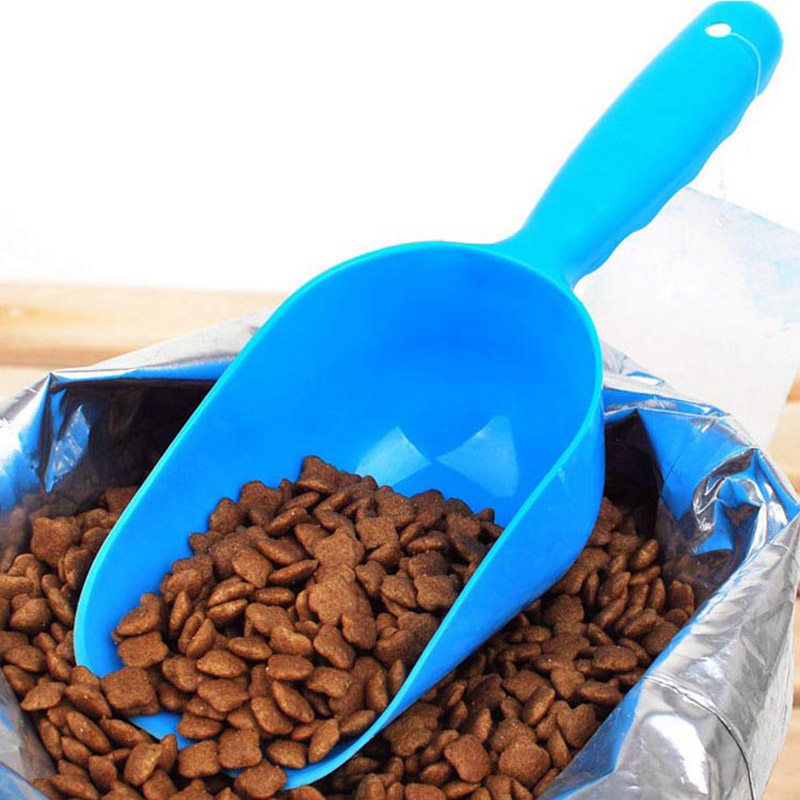 Lightweight Plastic Pet Dog Feed Food Shovel Dry Food Spoon Feed Measuring Scoop Puppy Feeding Accessaries (Random Color)