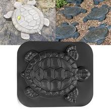 Schildkröte Stepping Stein Form Schildkröte Pfad Spaziergang Maker Pflaster Beton Zement MouldGarden Park Dekoration