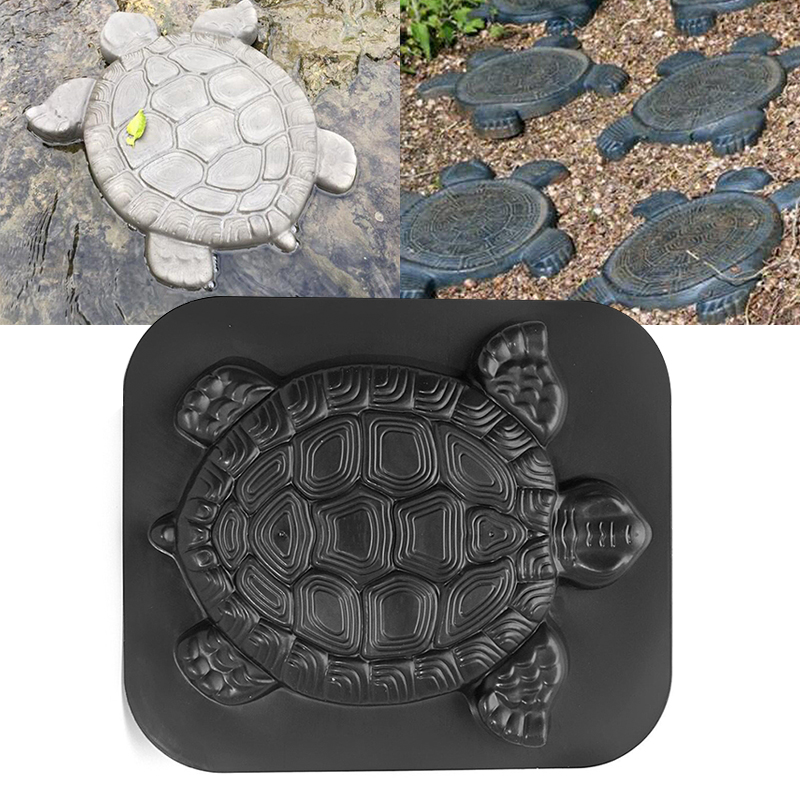 Turtle Stepping Stone Mold Tortoise Path Walk Maker Pavement Concrete Cement MouldGarden Park Decoration-in Garden Floor Boards from Home & Garden