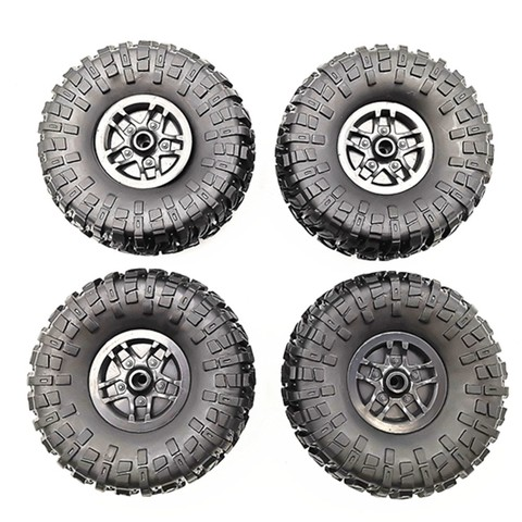 4 pcs RC Car Tires Wheels Rims Set for MN D90 D91 RC Car spare parts Crawler Car Assembled Tyre for Truck Parts & Accessories Multan