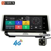 QUIDUX 4G ADAS 1080P Car DVR Camera GPS Navigation 8.0 IPS Dash Cam Android 5.1 Registrar Full HD Video Recorder Dual Lens dvrs