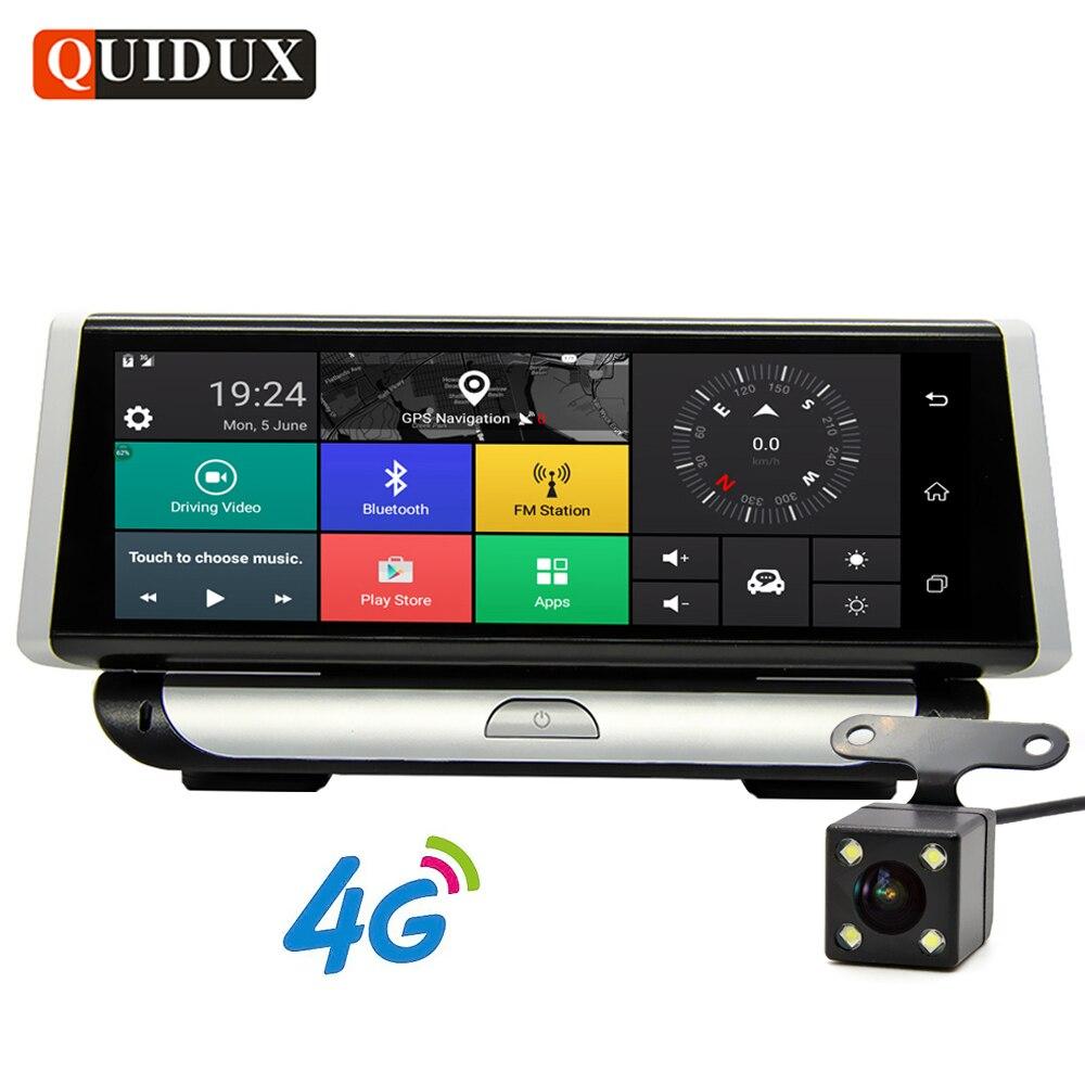 QUIDUX 4G ADAS 1080 P Видеорегистраторы для автомобилей Камера gps навигации 8,0 ips регистраторы Android 5,1 регистратор Full HD видео регистраторы Двойной объ...