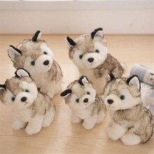 NEW Anime Q version Cute Siberian husky Dog Plush Dolls Stuffed Toys Kids Gift baby