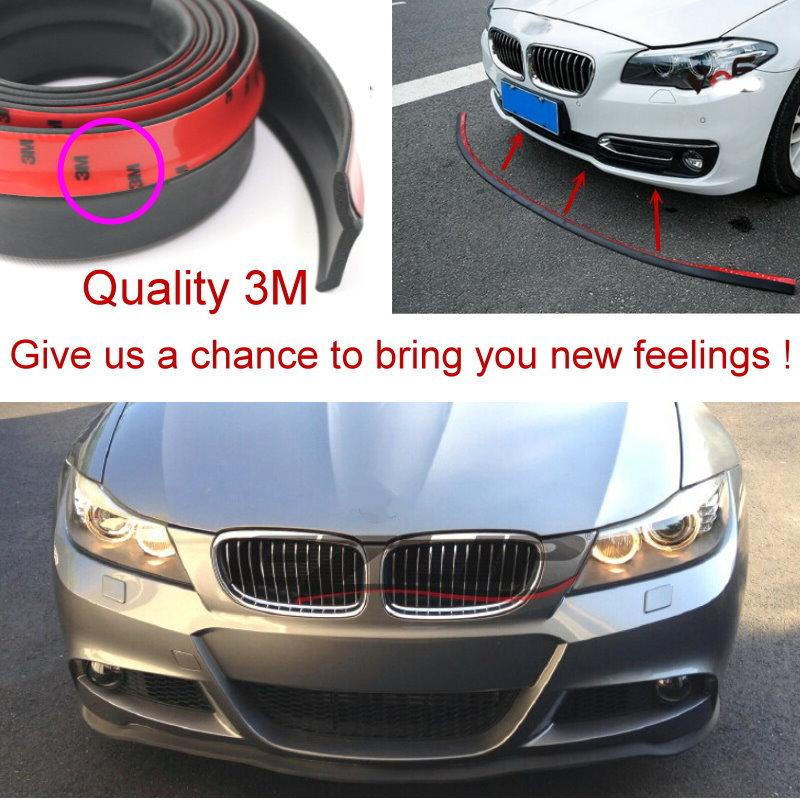 Car Bumper & Spoilers Lip Deflector Lips For BMW 7 E32 E38 E65 E66 E67 E68 / Front Skirt / Strip / Anti-Scratch Anti-Scratch