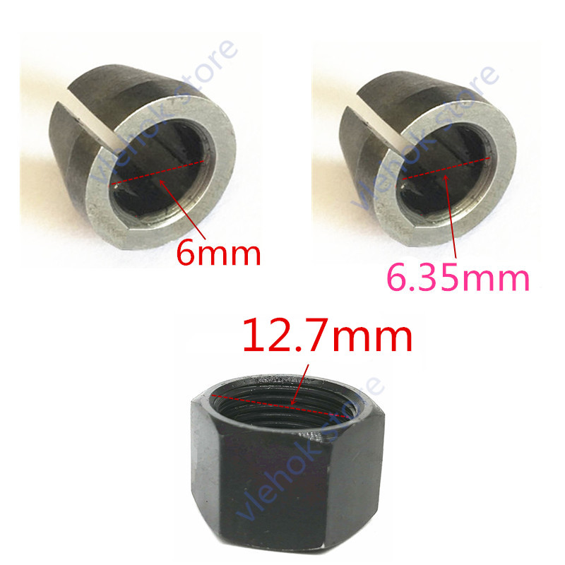 Collet Nut Cone 1/4'' 6mm 6.35mm Replace For Makita M3700B M3700 Power Tool Accessories Electric Tools Part