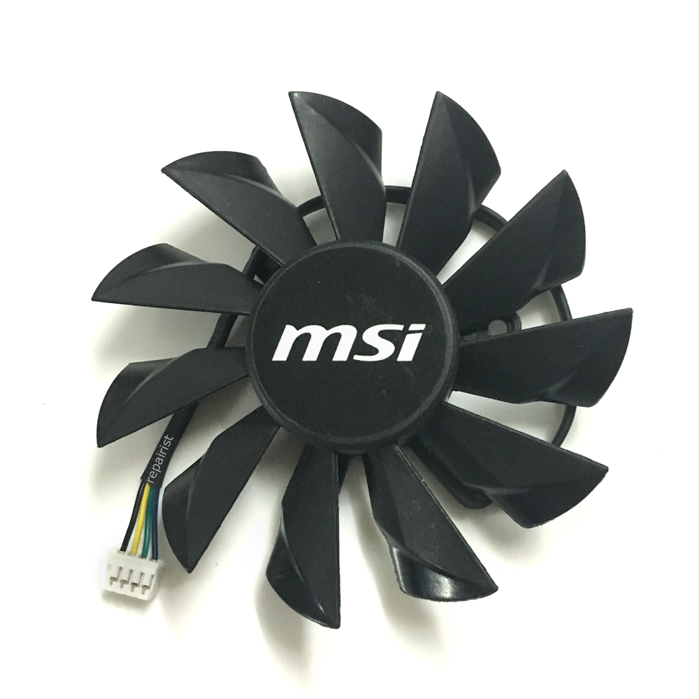 Graphics Card fan PLA09215B12H 4Pin VGA Cooler Fans For MSI N560 570 580GTX HD6870 Video cards cooling