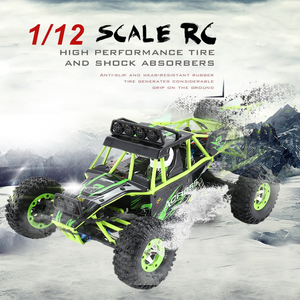 Wltoys 12428 1/12 2.4G 4WD High Speed 35km/h Electric Brushed Crawler Desert Truck RC Offroad Buggy Vehicle RC Climbing Car Toy