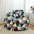 Diameter 120 cm Polynesian Style Bean Bag Chair Garden Camping Beanbag cover Lazy Sofa Anywhere Portable Sitting Cushion