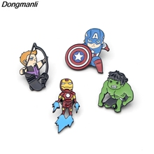 DMLSKY Super hero Brooches Metal Pins For Men Backpack Personality Collar Pin Charm Jewelry M1929