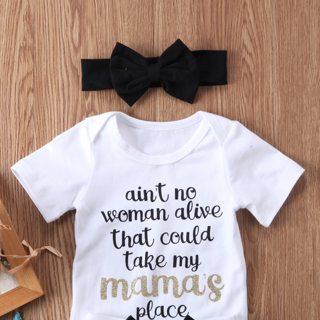New Fashion Newborn Baby Girl Boy Clothes Set Sequins 3pcs Outfits Romper Top Pants Headband Clothes Set Jumpsuit 2