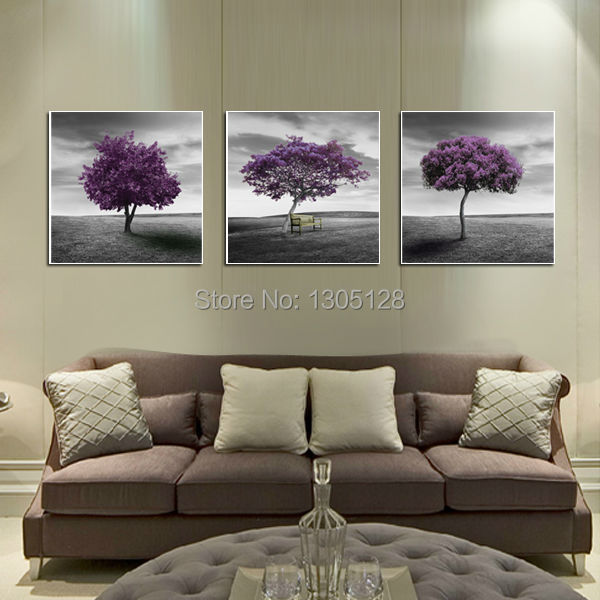 Modern Art Print On Canvas Painting Like Wall Decor No Frame 3pcs