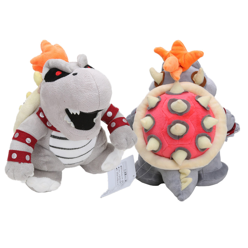 30CM Super Mario  Bones Bowser Koopa plush soft stuffed dolls Toys