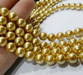 (Min Order1 )8mm Gold Akoya Round Shell Pearl Beads Round Jasper Loose Beads Stone 15inch Beads Jewelry Making Design