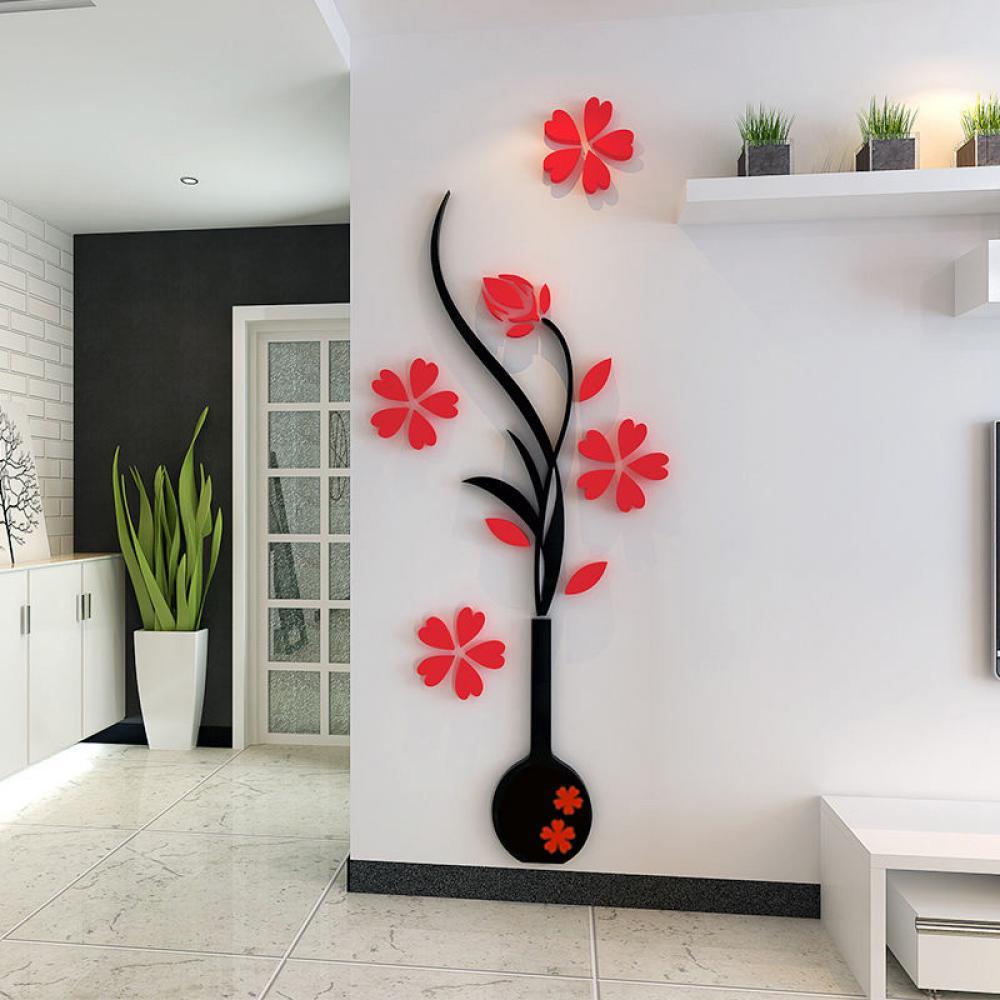 2016 modern retro home room tv decor vase plum flower tree for Retro home decor