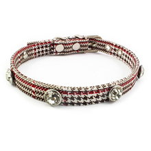 Houndstooth Rhinestones Cat Collar Fashion Retro For Cats Kitten Puppies Pup Supplies Accessories Pet Puppy