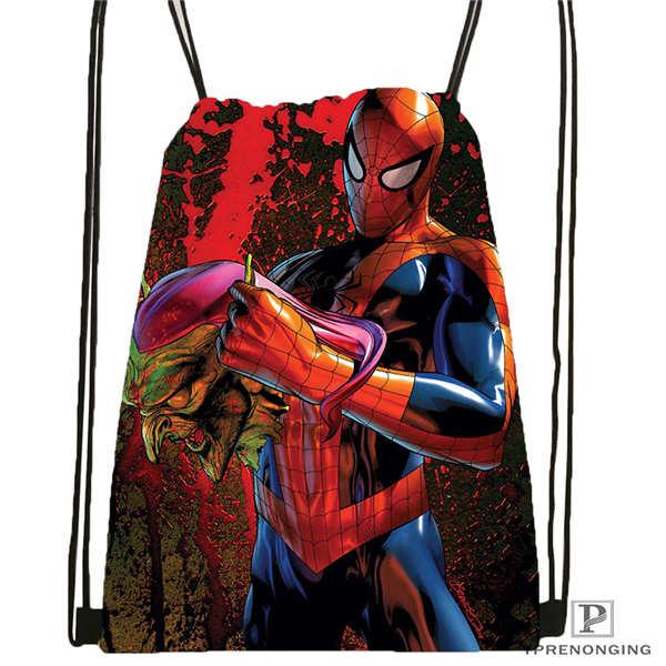 Custom Deadpool-fanart-marvel Drawstring Backpack Bag Cute Daypack Kids Satchel (Black Back) 31x40cm#2018611-1(5)
