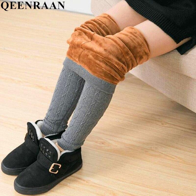 2018 New Winter Children Plus Velvet Thickening Leggings For Girls Slim Skinny Warm Cotton Trousers Kids Thick Pants Girls 2-12Y velvet skinny jumpsuit