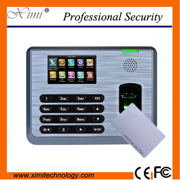 RFID card reader fingerprint time attendance system 3000 fingerprint users linux system time attendance linux system programming