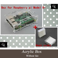 Pi Case For Raspberry Pi 2 &Raspberry Pi Model B Plus With 2 Pcs Pure Aluminum Heat Sink Pi Box