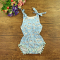 Baby Fashion Girls Printed Fish Bubble Romper Petti Romper Baby Birthday Infant Toddler Rompers