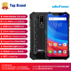 Image 2 - Ulefone Armor 6 IP68 Waterproof Mobile Phone Android 8.1 Helio P60 Octa Core 6GB 128GB Face ID NFC IP69K Rugged Smartphone