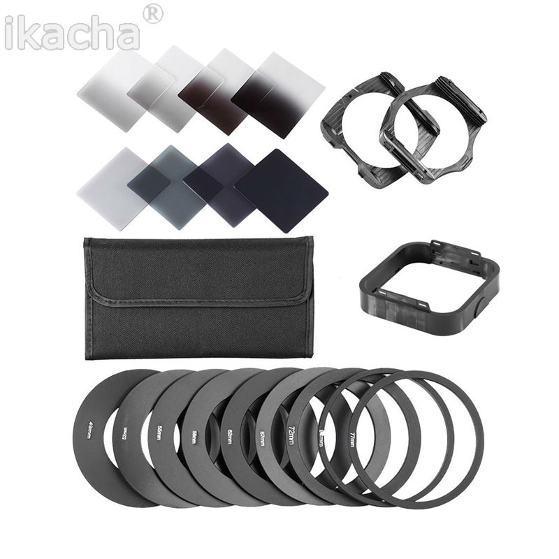 20 in1 Universal Neutral Density Square ND Filter Kit Adapter Ring Holder for Cokin P Set