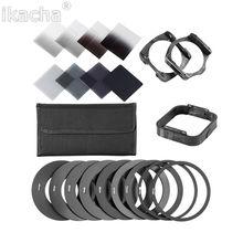 20 in1 Kit de Filtro de Densidade Neutra ND Quadrado + Adaptador Universal anel + suporte para cokin p set slr dslr lente da câmera