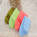 Hot Selling!New Autumn And Winter Warm Foot Girl Women Socks Candy Color Soft Thicken Cotton Coral Fleece Fluffy Socks Women