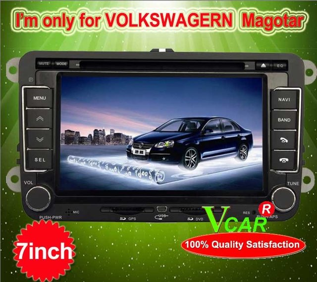 Bright Idea Import!! 2 din car dvd player stereo for 7 inch VW Magotar