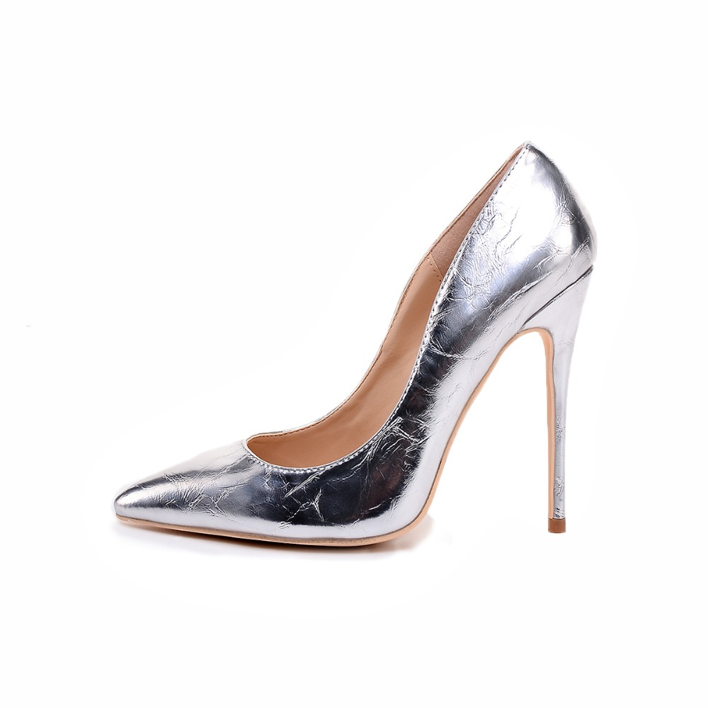 2019 Metal Texture High Heels Wedding Pumps for Women Pointed Toe  Thin Heel Women Shoes 8cm/10cm/12cm Stiletto Ultra shoes 2019 Metal Texture High Heels Wedding Pumps for Women Pointed Toe  Thin Heel Women Shoes 8cm/10cm/12cm Stiletto Ultra shoes
