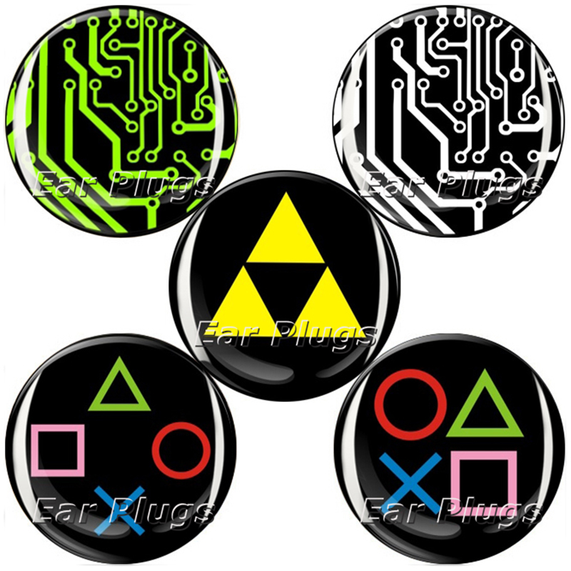 Wholesale 60pcs game controller logo plug gauges acrylic screw ear plug flesh tunnel piercing body jewelry 6mm-25mm MP028