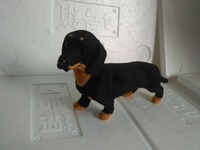 About 22x6x12cm Simulation Black Dachshund Dog Model Polyethylene Furs Handicraft Miniatures Decoration Toy Gift A2284