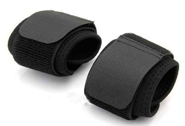 2 ピース/ロット調整可能なスポーツリストバンド手首ブレースラップ包帯サポートバンドジムストラップ安全スポーツ手首プロテクター
