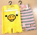 Cartoon baimuer roll-up soft pearl hem winter fleece thermal home shorts legging