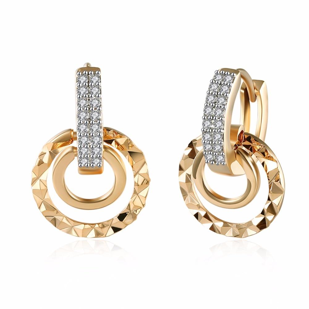 Купить 1 пара женских сережек маленькие круглые кубические серьги кольца