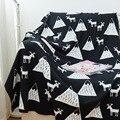 75x90 cm cobertor dupla bebê de tricô de algodão por atacado boutique de alta qualidade toalha bebê cobertor cobertores para crianças árvore cabana de alce
