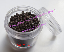 Free shipping 1000pcs bottle 2 9x1 6x2 0mm Medium Brown Nano Rings with Silicone for Nano