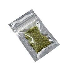 6x10cm Small Aluminum Foil / Clear Resealable Valve Zipper Plastic Bag Retail Packaging Packing Zip Lock Ziplock 200PCS