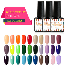 RBAN NAIL 7ML Gel polish Hybrid Varnish Nail art UV Polish 132 Colors Manicure Semi Permanent Need Base Top Coat Primer