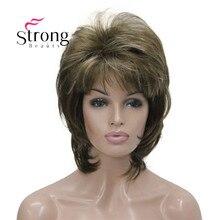 Perruque synthétique courte et moelleuse pour femmes