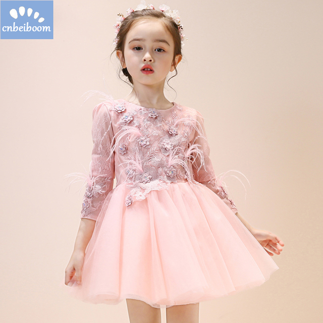f64b7ccc818d Beautiful Girl Flowers Baby Dress Soft Lace Little Girls Party ...