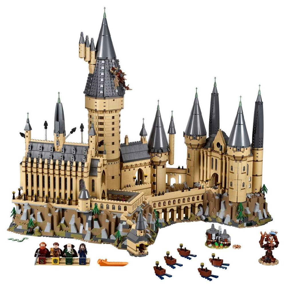 Lepin 16060 Harry Movie Potter Series The 71043 Hogwarts Castle Set Building Blocks Bricks Kids Toys House Model Christmas Gifts harry movie series compatible legoinglys 71043 lepined 16060 hogwarts castle set building blocks bricks christmas toys gifts