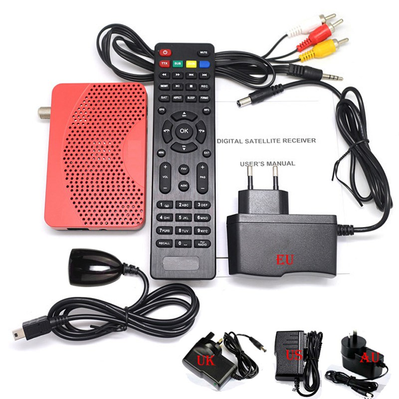 Hot Mini iks iptv satellite Decoder IPTV 1080P DVB S2 SD HD Set Top Box USB