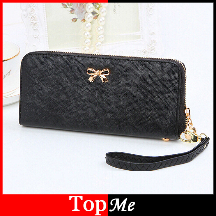 Fashion Women Wallets PU Leather Brand Lady Purses Handbags Cards Holder Zipper Moneybag Coin Purse Long Woman Wallet Burse Bags