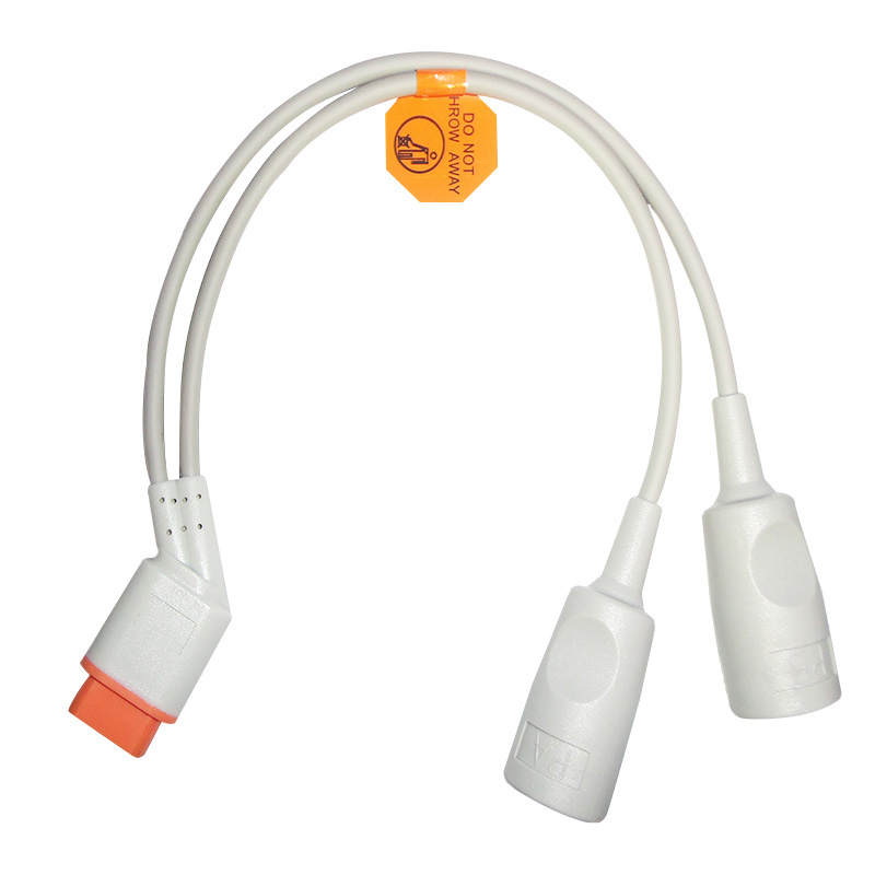 Compatible with 16pin Drager/Siemens pressure transducer IBP adapter cable for disposable IBP pressure transducer /ECG EKG SPO2Compatible with 16pin Drager/Siemens pressure transducer IBP adapter cable for disposable IBP pressure transducer /ECG EKG SPO2